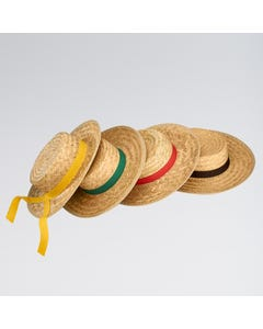 Boater Straw Hat - Assorted Ribbons