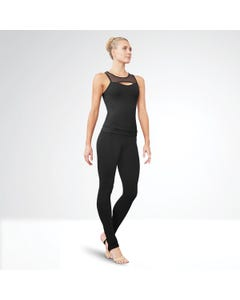 Bloch Divya High Neck Mesh Front Fitted Top