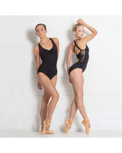 Ballet Rosa Anette Embroidered Leotard with Cross Strap Back