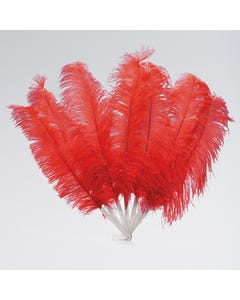 Large 7 Feather Fan (Red)