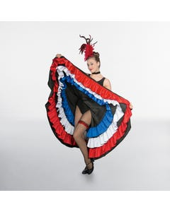 1st Position Red/White/Blue Can-Can Skirt