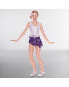1st Position Sequin Fringe Glitz Skirt