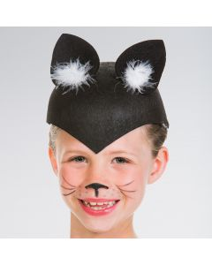 Cat Skull Cap Black