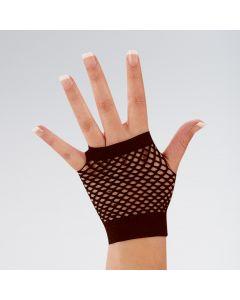 Short Fingerless Fishnet Gloves