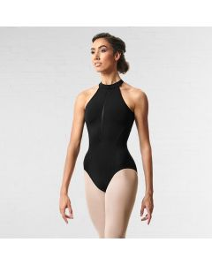 Bloch Rhode Zipper Front Halter Leotard