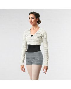 Bloch Roll Waist Textured Knit Shorts