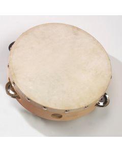 Natural Skin Tambourine 20cm diameter