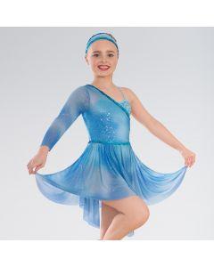 1st Position Tie Dye Sequin Asymmetric Lyrical Dress