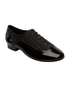 Supadance Patent/Black Stingray Mens Ballroom Shoe