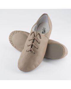 So Danca Rubber Split Sole Leather Jazz Shoes Tan Size EU 33 UK 1 US 4