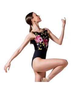 Dans-ez Velvet Floral Leotard