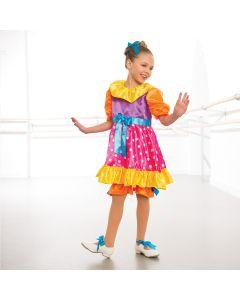 Satin Clown Dress & Pantaloons