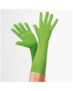 Neon Green Long Gloves