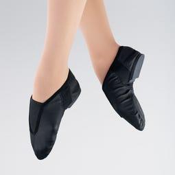 1st Position Stretch Leather Front Gusset Flex Jazz Shoe