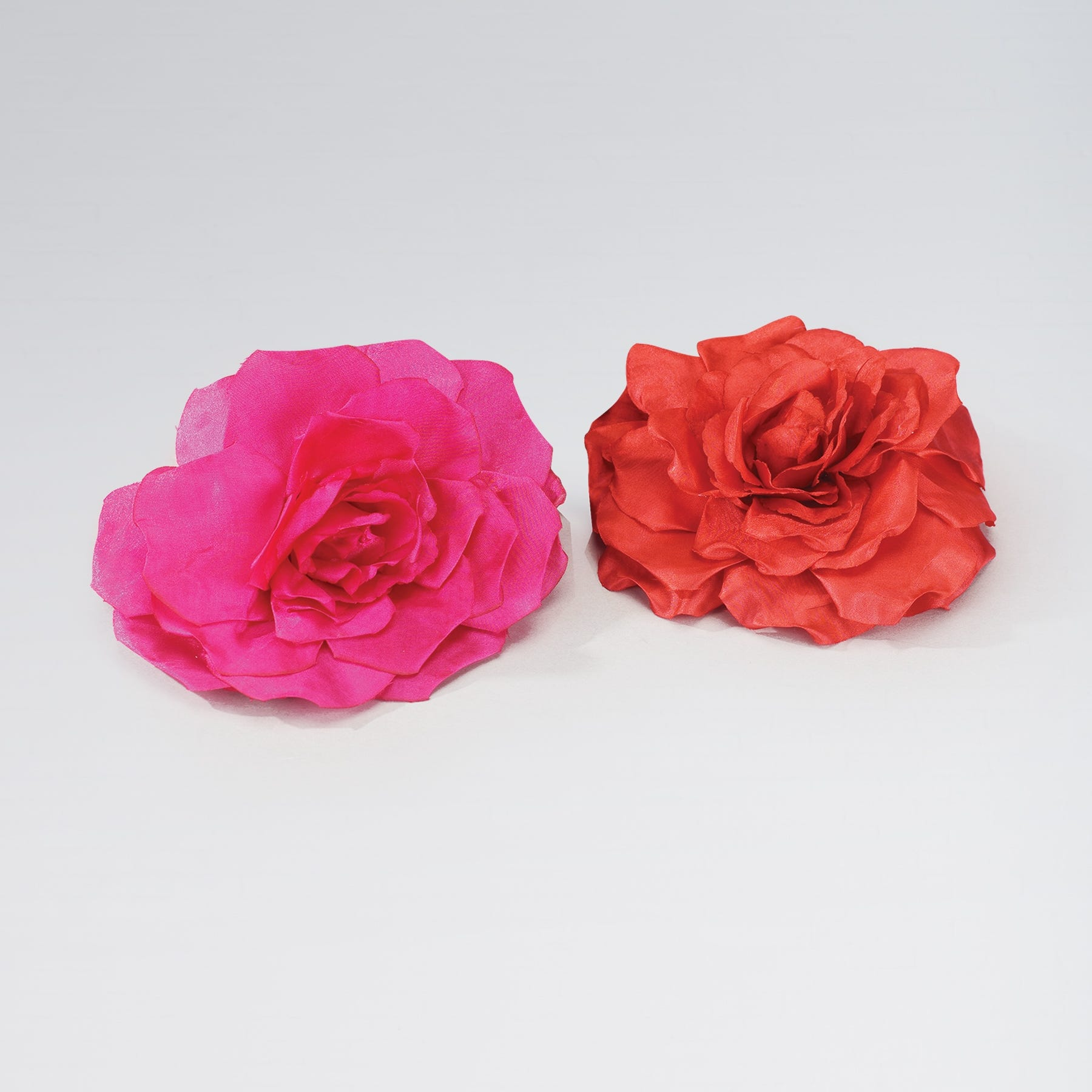 Large Fabric Rose on Clip and Pin