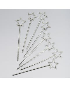 Mini Silver Wands Pack 8