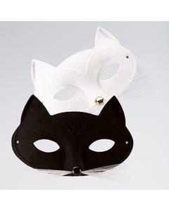 White Cat Face Mask