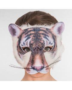Tiger Mask Digital Print with Fur